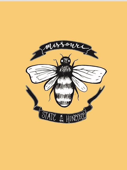 Missouri Insect - Honeybee Print