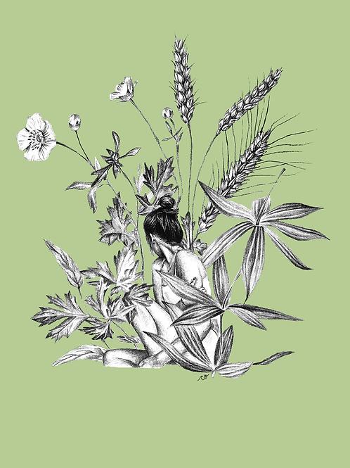 """Wild"" Print - Green"