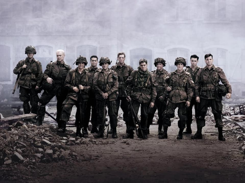 "The men of Easy Company from HBO's Series, ""Band of Brothers"""