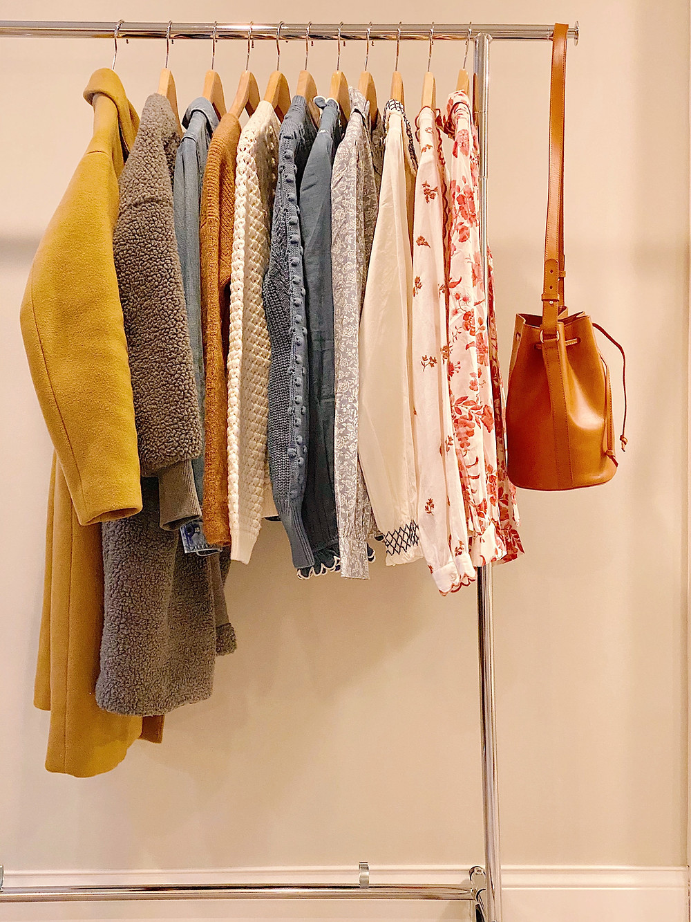 clothes hanging on a repack
