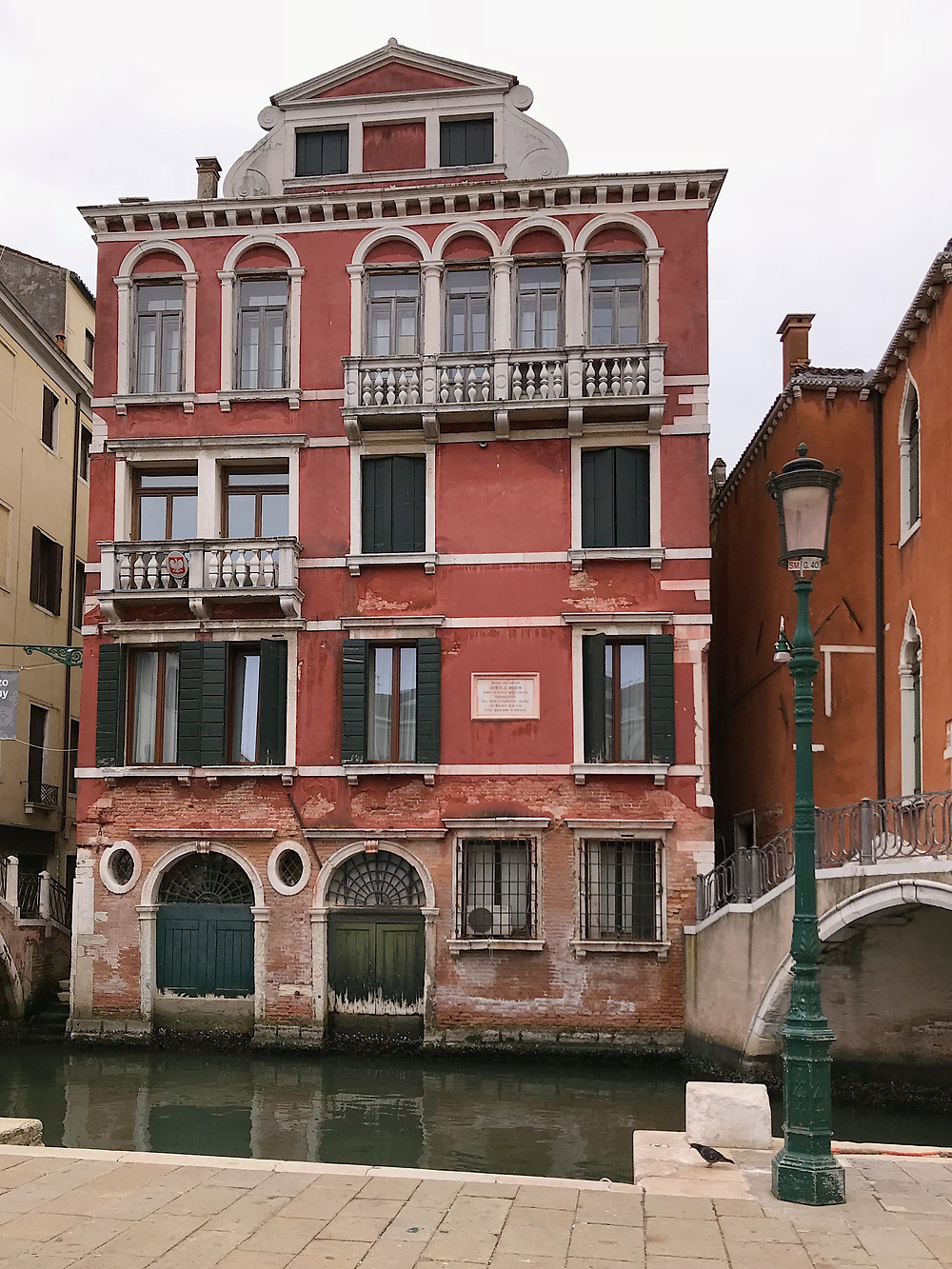 building in Venice on the canal
