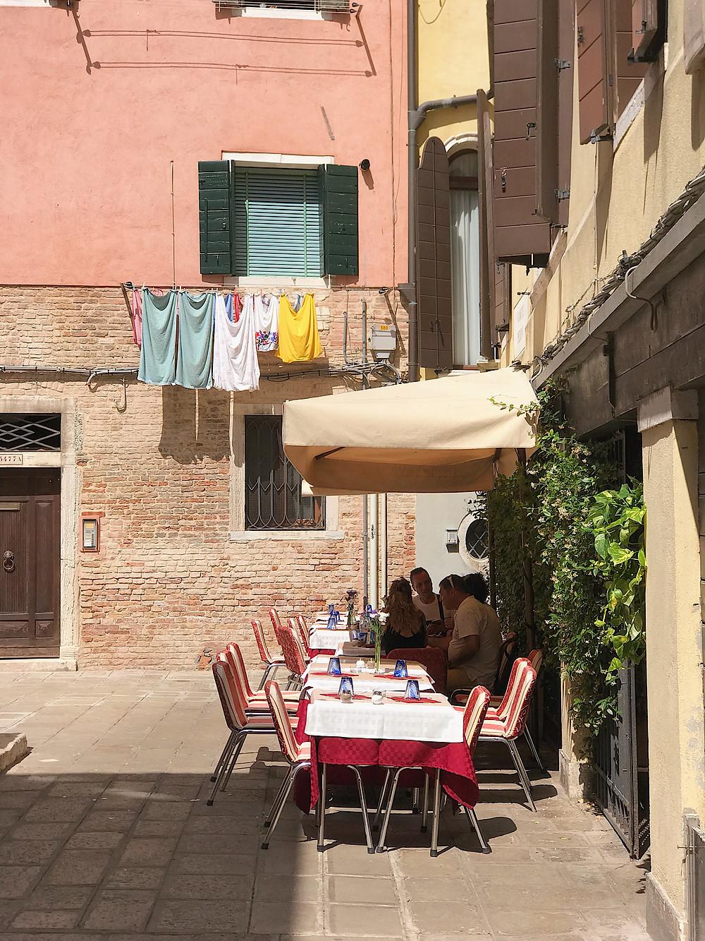 outdoor restaurant in Venice