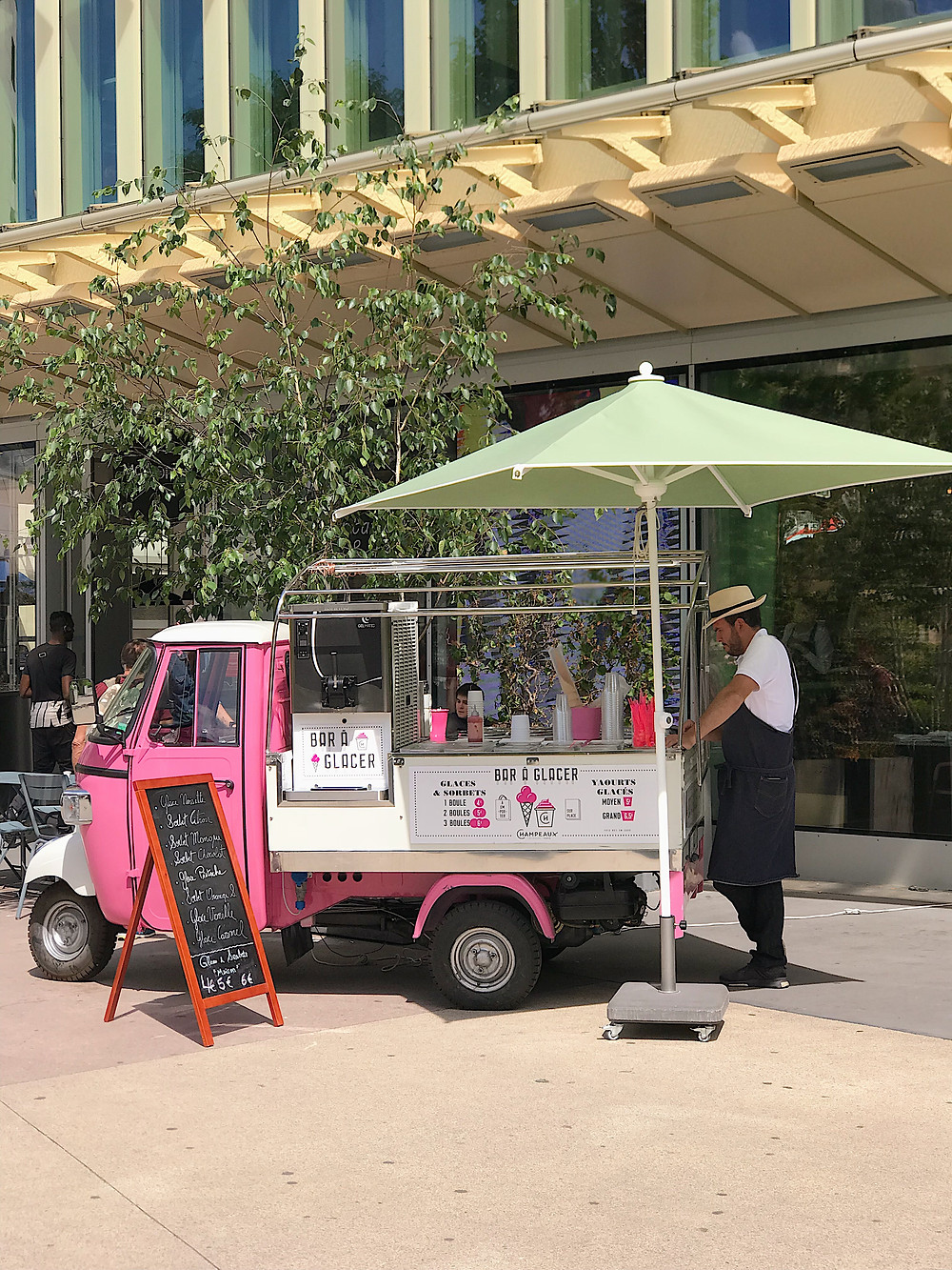 pink ice cream truck