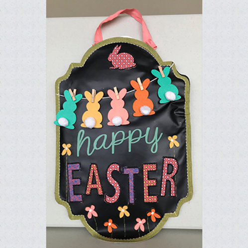 Happy Easter Chalkboard Door Décor