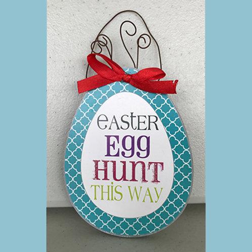 """Easter Egg Sign """"Easter Egg Hunt This Way"""""""