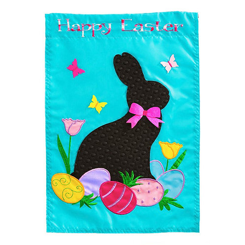 Easter Rabbit Applique Flag