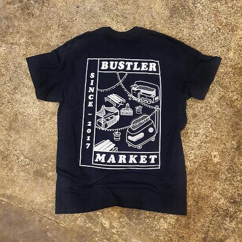 'Bustler Market Since 2017' T-shirt