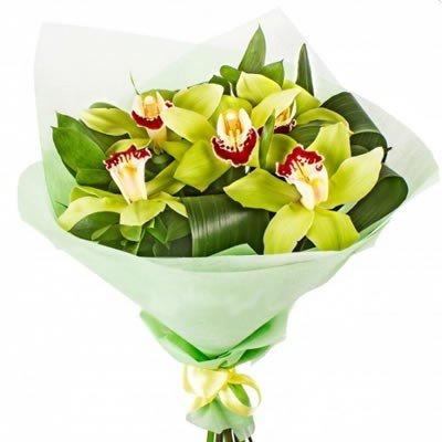 Букет из орхидей Оливка
