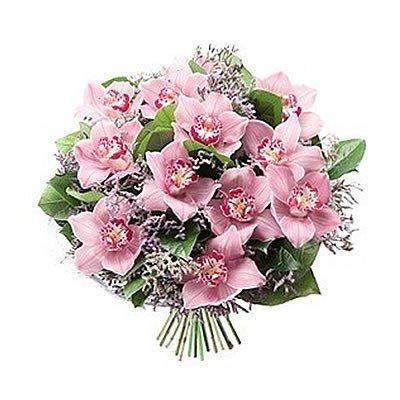 Букет из чудесной сиреневой орхидеи Фаберже
