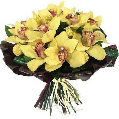 Букет из желтых орхидей Лимонад
