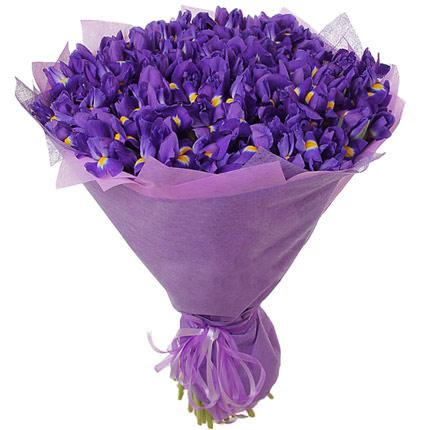 """Букет 51 фиолетовый ирис """"Эгейское море"""""""