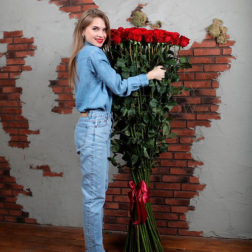 Букет из 51 розы 160 см