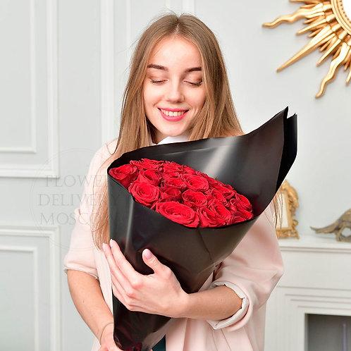 25 красных роз Премиум
