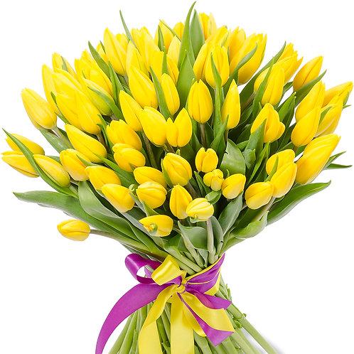 """75 Желтых тюльпанов """"Лиимон"""""""