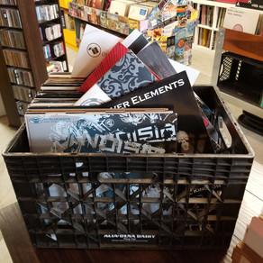 Crate of used Drum N Bass vinyl
