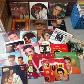 Stack of Elvis Presley vinyl just came in