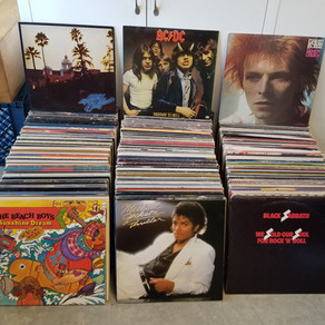 Super nice Classic Rock record collection