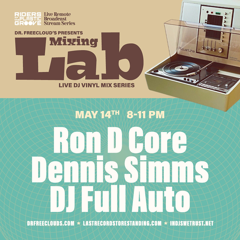 """Dr. Freecloud's """"Mixing Lab"""" Riders of the Plastic Groove live broadcast"""