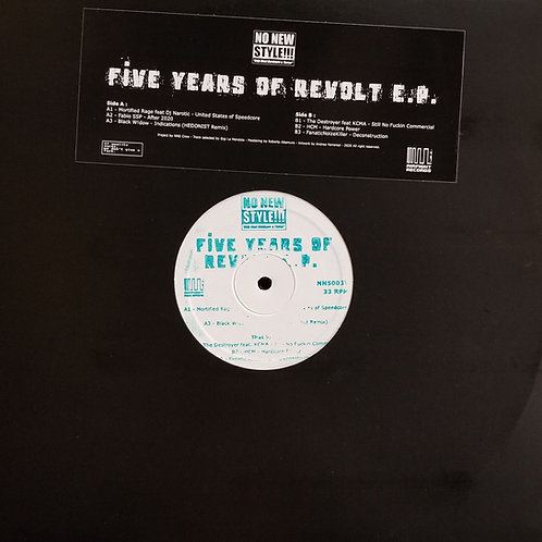 """Various Artists """"Five Years Of Revolt E.P."""""""