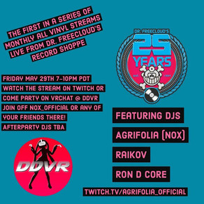 Live stream and in store event @ Dr. Freecloud's TONIGHT!