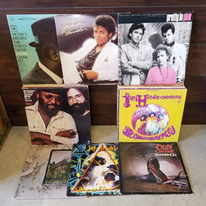 Solid classic rock vinyl collection