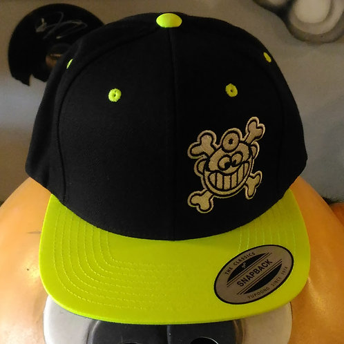 """Dr. Freecloud's Official Logo Hat """"Black/Neon Green"""""""