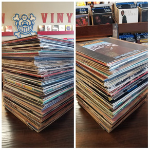 One giant stack of used vinyl JUST IN!
