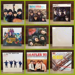 Extra clean stack of used Beatles vinyl reissues