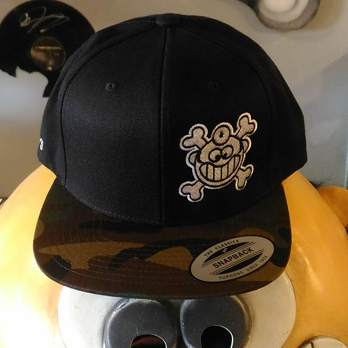 "Dr. Freecloud's Official Logo Hat ""Black/Green Camo"""