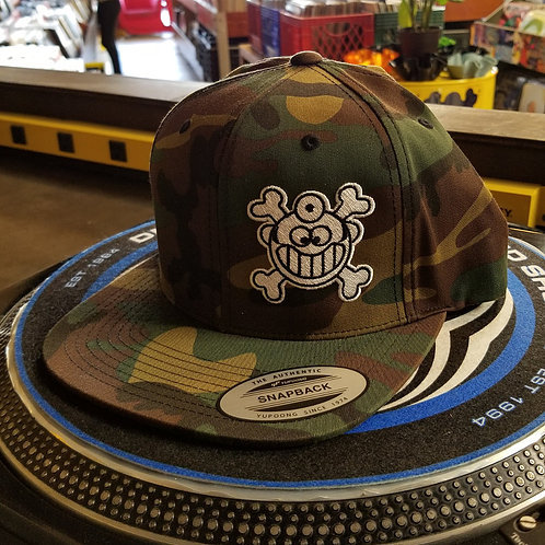 "Dr. Freecloud's Official Logo Hat ""Green Camo"""