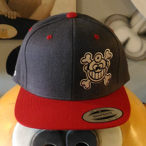 """Dr. Freecloud's Official Logo Hat """"Charcoal/Red"""""""