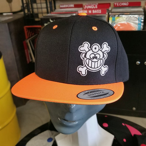 "Dr. Freecloud's Official Logo Hat ""Black/Orange"""