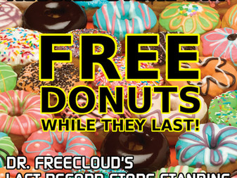 FREE donuts while they last!
