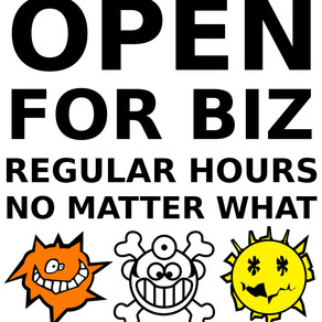 WE ARE OPEN FOR NORMAL BUSINESS HOURS