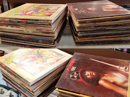 Used Vinyl Record Collection