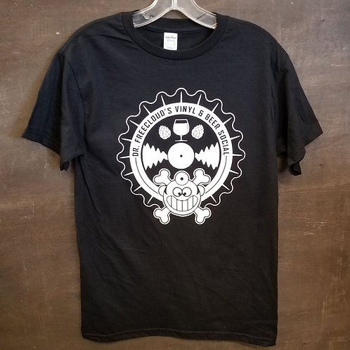 "Dr. Freecloud's Vinyl & Beer Social ""t-shirt"""