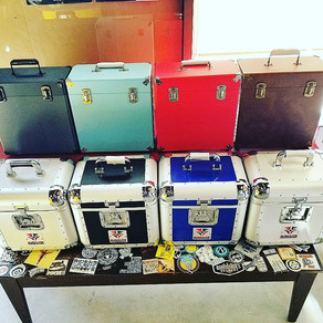 We got full stocks of DJ hard cases, record boxes + vinyl storage