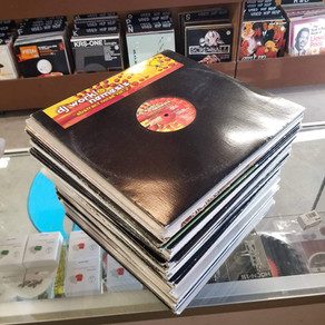 Giant stack of used rare U.S. Hard House vinyl