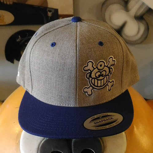 "Dr. Freecloud's Official Logo Hat ""Grey/Royal"""