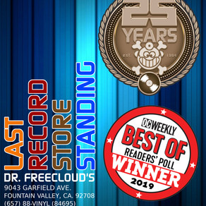 """Dr. Freecloud's WINS 4 """"Best Record Store"""" in OC"""