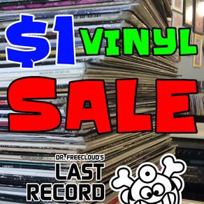 Giant Dollar Vinyl Sale @ Dr. Freecloud's