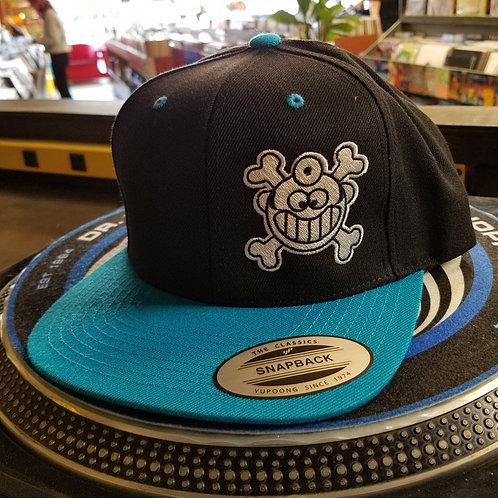 "Dr. Freecloud's Official Logo Hat ""Black/Teal"""
