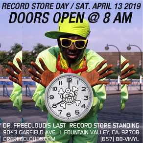 """Dr. Freecloud's """"Record Store Day"""" Newsletter is out now!"""