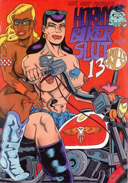 Horny biker Slut Comics #13