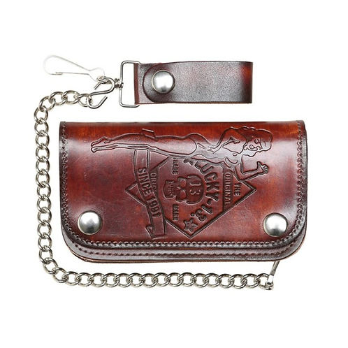 The No Riders Embossed Leather Wallet