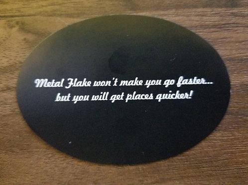Metal Flake City Slogan Sticker