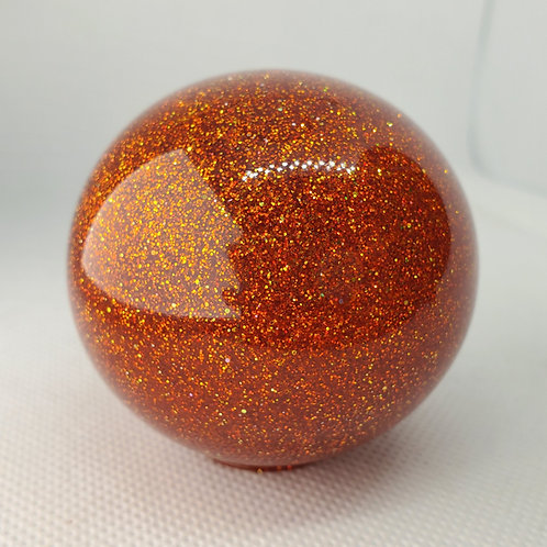 Candy Tangerine with Holographic Metal Flake Shift Ball