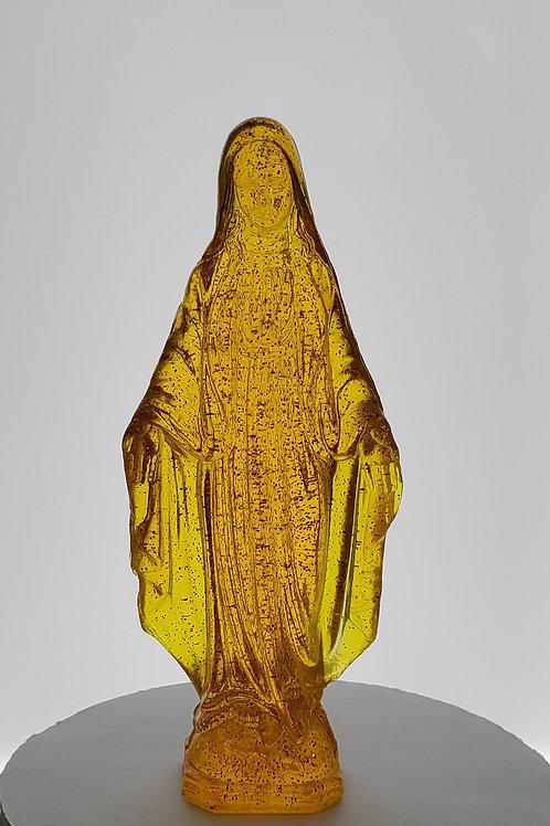 Dashboard Virgin Mary Virgencita Gold Flake