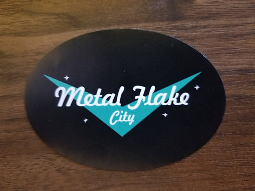 Metal Flake City Stickers