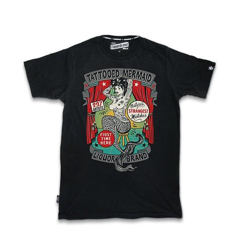 Tattooed Mermaid Mens Crew Neck Shirt